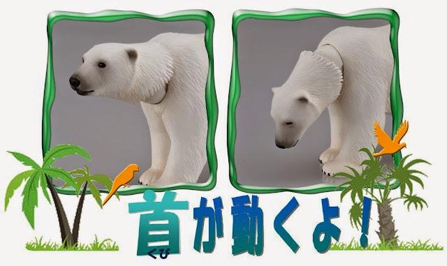 Chú Gấu trắng AS-10, đặc biệt có thể xoay khớp cổ để cử động chiếc đầu