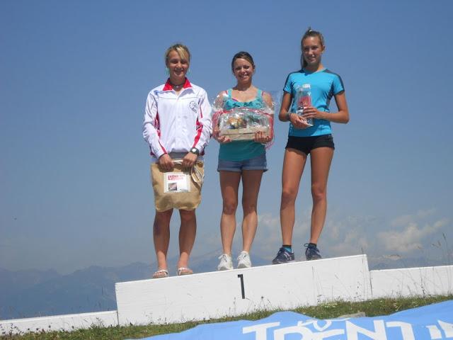 Il podio femminile di oggi - foto Bettineschi