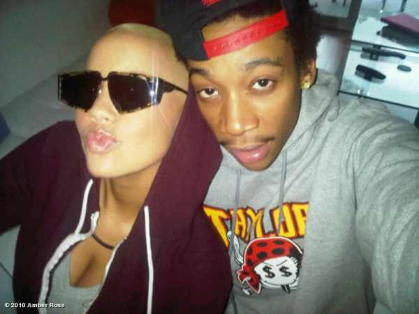 amber rose and wiz khalifa. wiz khalifa amber rose tattoo.