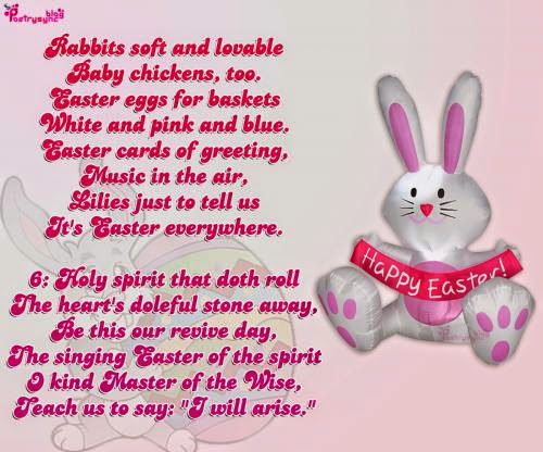 animals and shamanism happy easter day poems and picture with bunny
