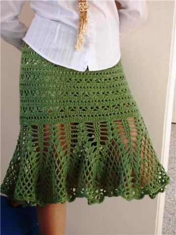 Free Crochet Pattern For Cowgirl Skirt : Moda do Croch?: Saias de croch?
