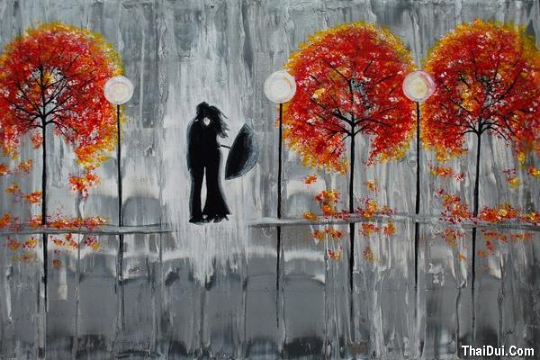 thơ tình mưa mùa Thu