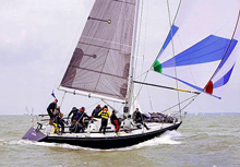 J/39 SLEEPER sailing in Solent, England