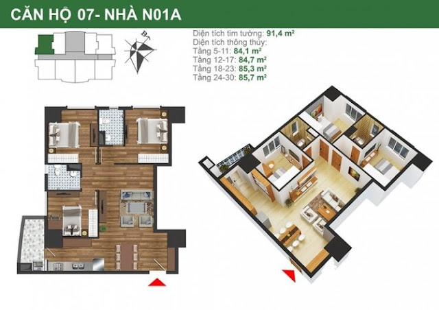 Mặt bằng căn hộ 7