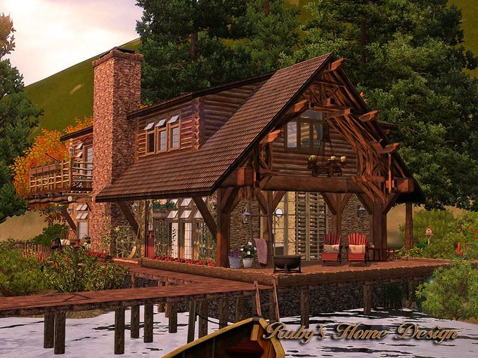 sims3 lakeside cabin ruby 39 s home design