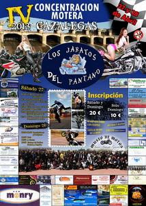 Cartel IV Concentración Motera Cazalegas 2013