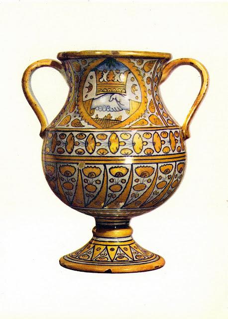 Serena il suo spazio vasi da farmacia 2 maiolica for Vaso greco a due anse