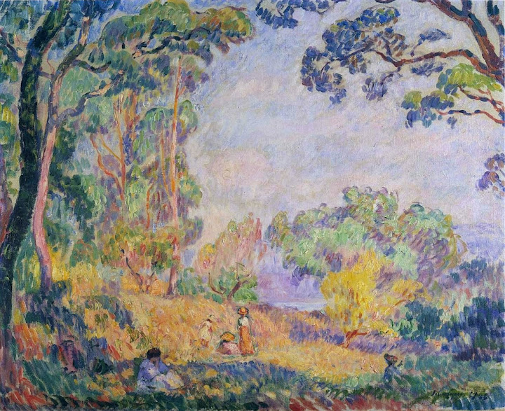 Henri Lebasque - In a Field near the Sea-1910.
