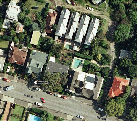 The Boltons are the group of four houses facing North.