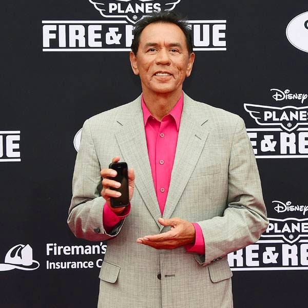 Wes Studi, who voices Windlifter, poses on arrival for the world premiere of the film 'Planes Fire & Rescue' in Hollywood, California, on July 15, 2014.