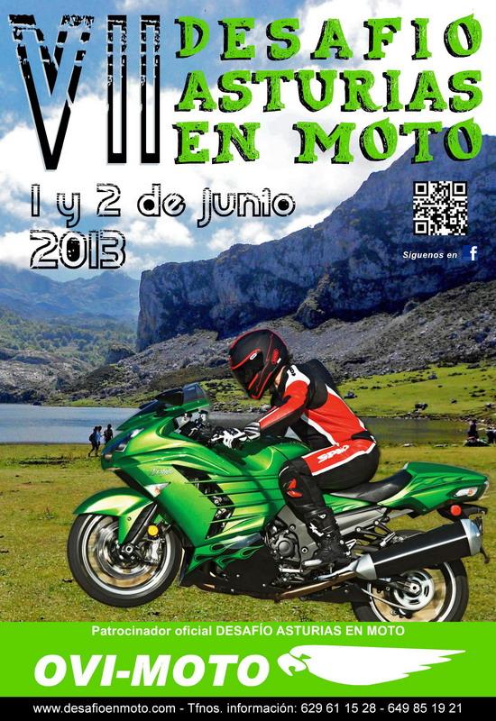 Cartel VII Desafío Asturias en Moto 2013