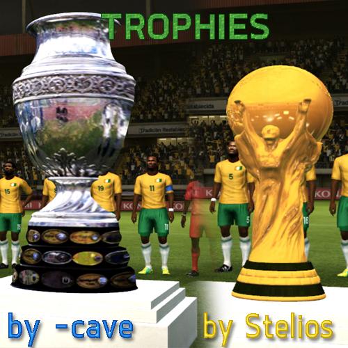 Troféus Reais para Copa America e Copa do Mundo - PES 2012