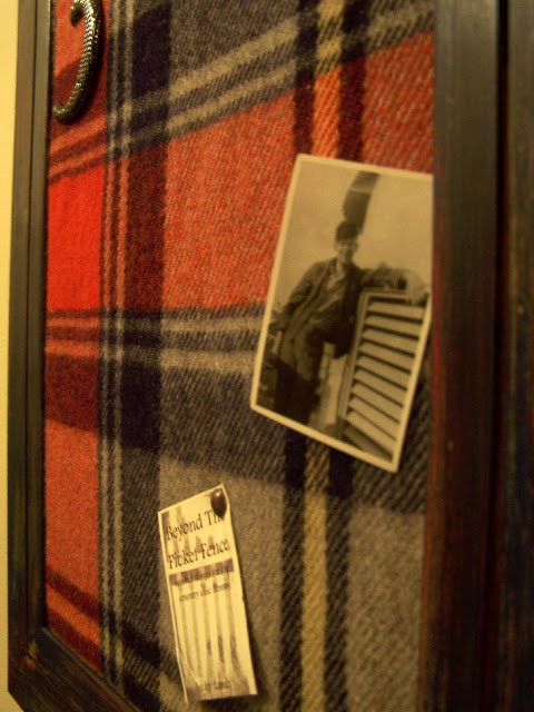 repurposed wool blanket message board http://bec4-beyondthepicketfence.blogspot.com/2011/02/mad-for-plaid.html