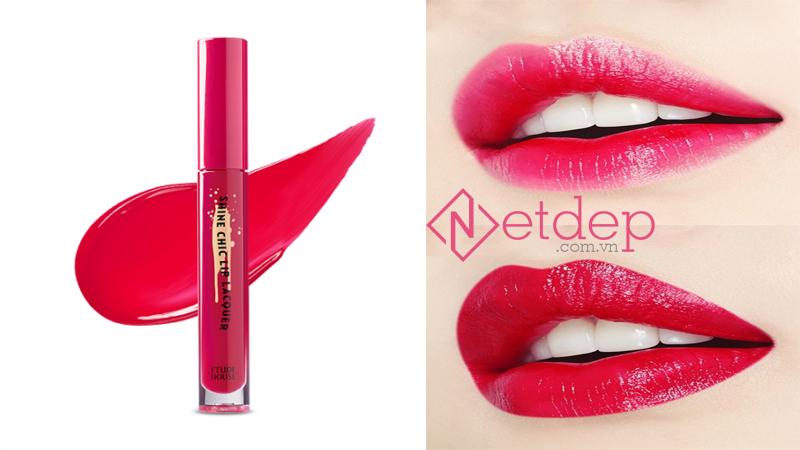Son Etude House x Red Velvet Shine Chic Lip Lacquer PK001 Magenta Z
