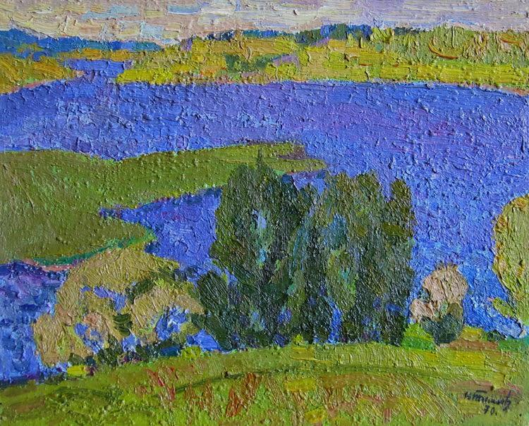 Nikolai Timkov - A River. 1970