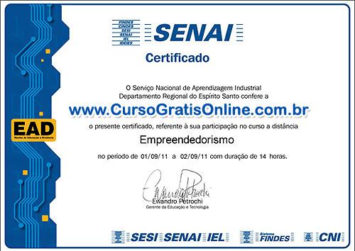 SENAI RJ certificado