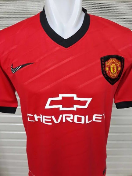 Jual Jersey Training Manchester United Chevrolet Merah