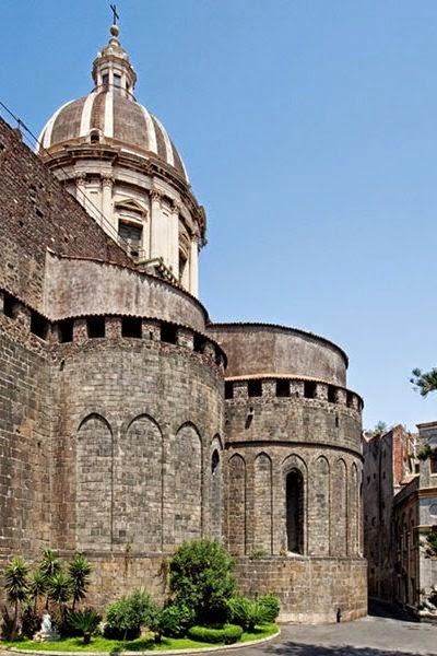 Abside basilica s agata, duomo catania