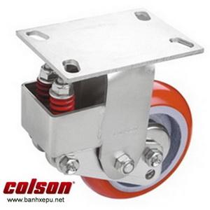 Bánh xe PU phi 200 cố định có lò xo giảm chấn Colson | SB-8508-948