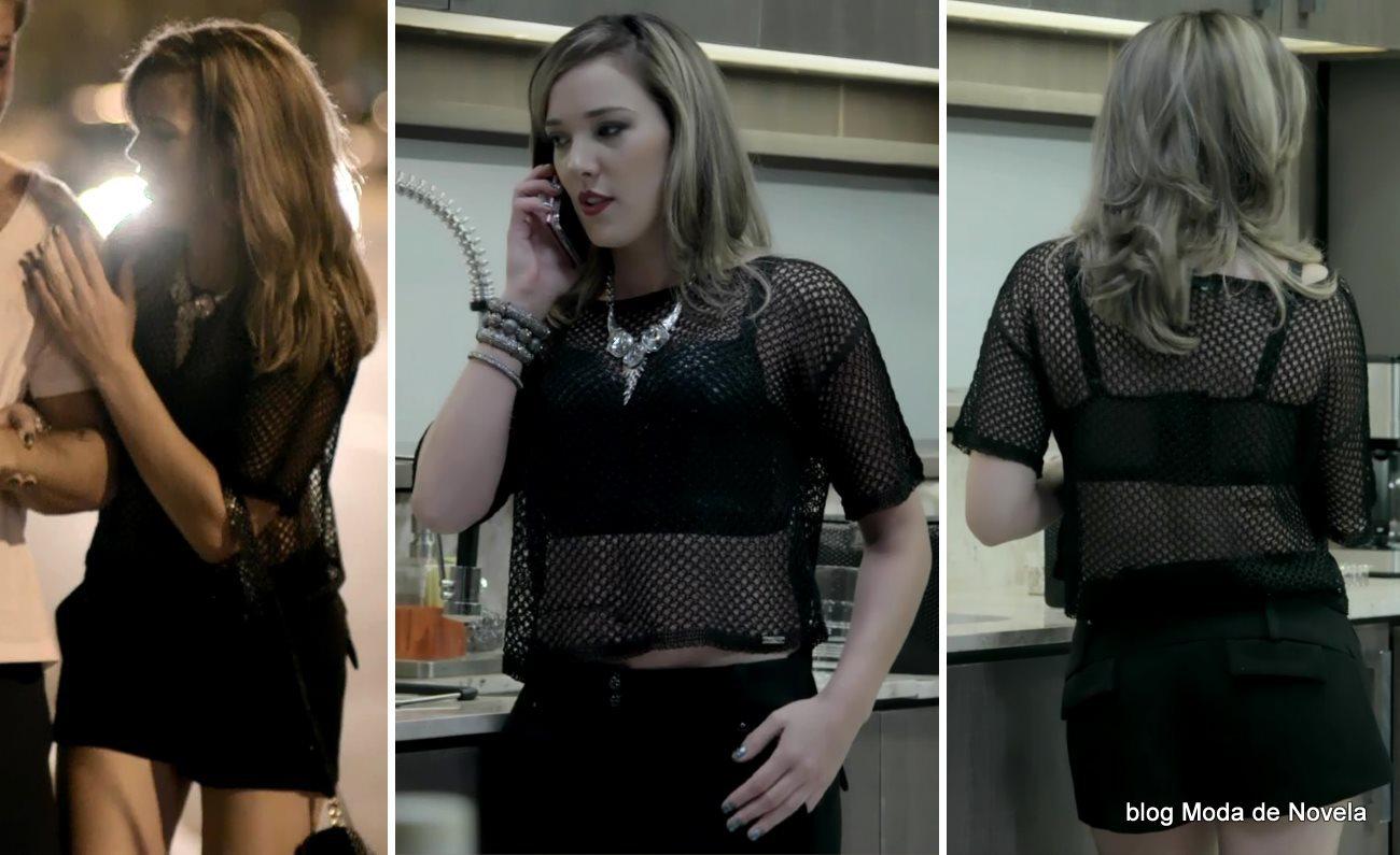 moda da novela Império, look da Amanda dia 13 de novembro