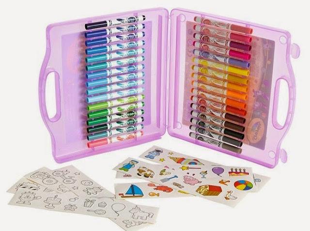 Vali nghệ thuật 32 bút lông mini kèm giấy vẽ cho bé thỏa thích tô màu