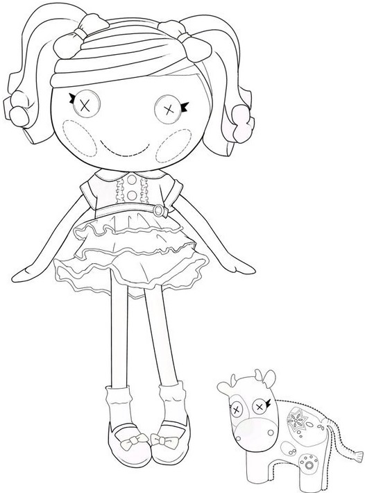 Lalaloopsy Coloring Pages - GetColoringPages.com | 710x526