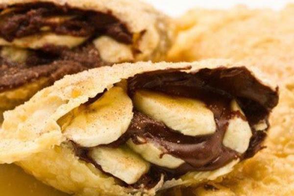 Pastel de Banana com Nutella