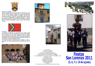 Programa de Fiestas de San Lorenzo 2011. Nigüella