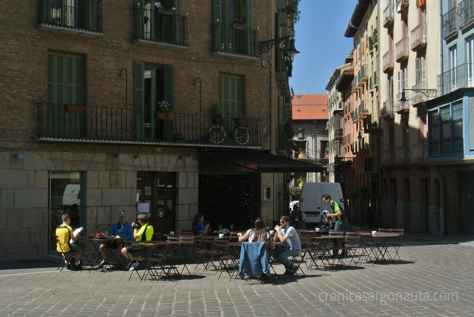 Pelegrinos en Pamplona