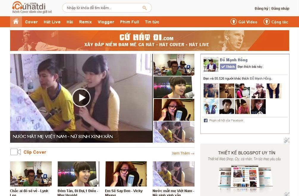 Chia sẻ template video cho blogger