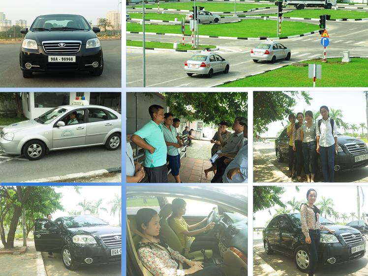 Hình ảnh học viên tham gia khóa học đào tạo lái xe ô tô tại trung tâm