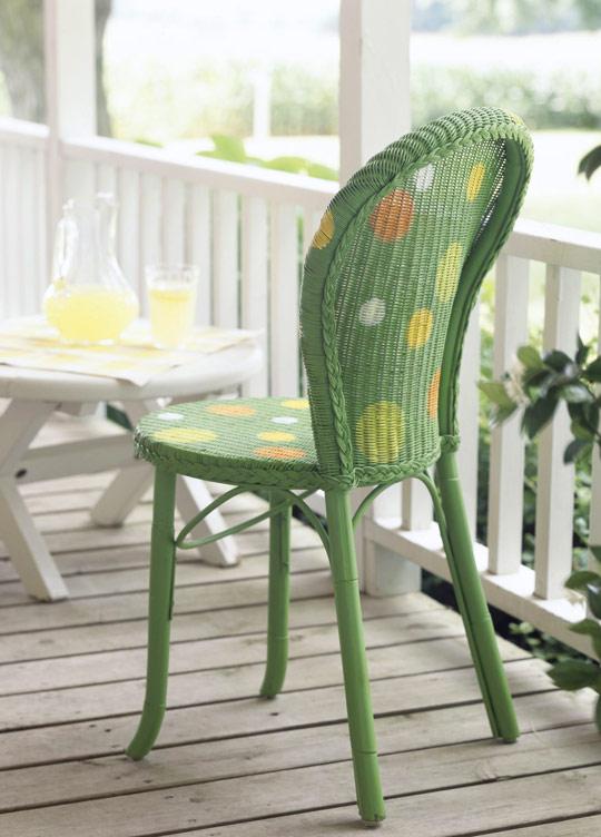 ideas para pintar sillas de mimbre
