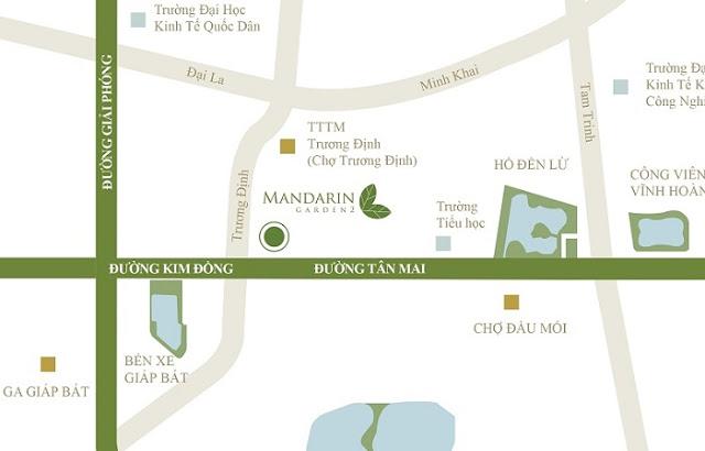 Vị trí Mandarin garden 2