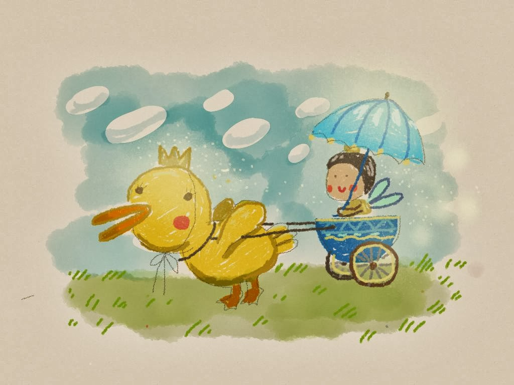 duck and princess made with Sketches