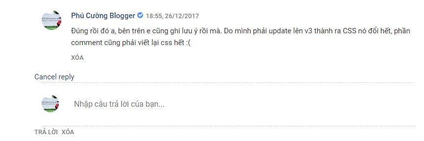 Thêm nút hủy bình luận cho blogspot