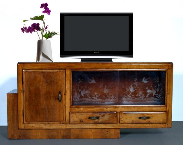 Credenza Vetrina Da Restaurare : Mobile porta tv decò restaurato credenza vetrina bassa