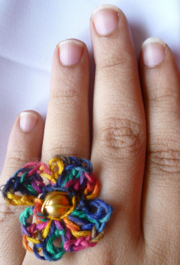 Crochet flower Ring Jewels of sayuri