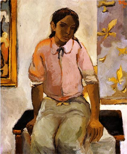1952 portrait d'une jeune indienne by Fernando Botero