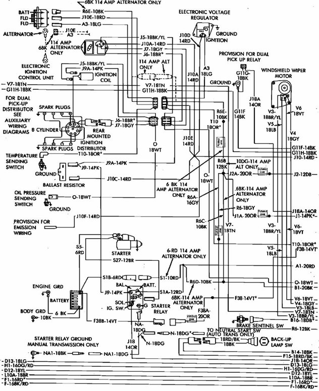 86 Dodge Truck Wiring Diagram
