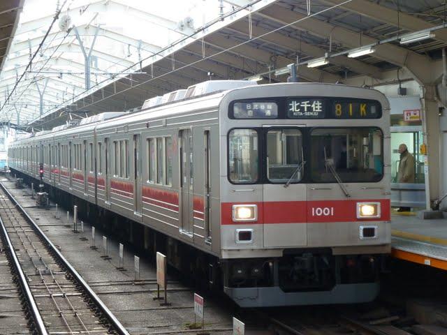 東京メトロ日比谷線 北千住行き7 東急1000系
