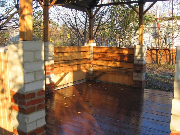 Дача: Строим сами: постройка беседки на приусадебном участке (часть 3)