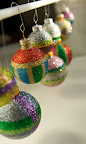 Then, Kari Tarr is back on Tuesday to make these gorgeous glittered ornaments.