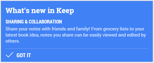 Google Keep Share