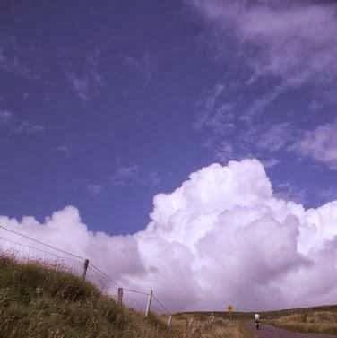 Miri vor Wolken am Pass zwischen Castlemaine und Tralee