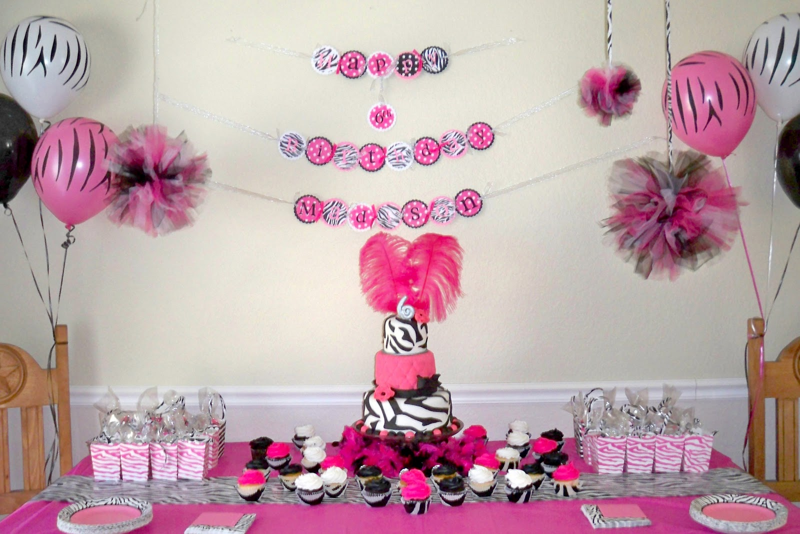 Pink Birthday Cake Decoration Ideas : My Creative Way: Hot Pink Zebra Diva Birthday Party Ideas