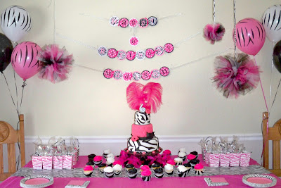 My Creative Way Hot Pink Zebra Diva Birthday Party Ideas