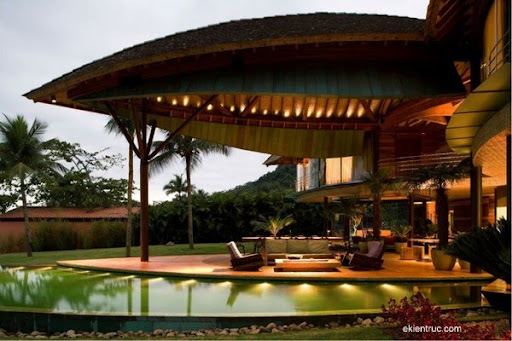 Leaf House 11 750x500 Kiến trúc nhà lá thú vị tại Brazil