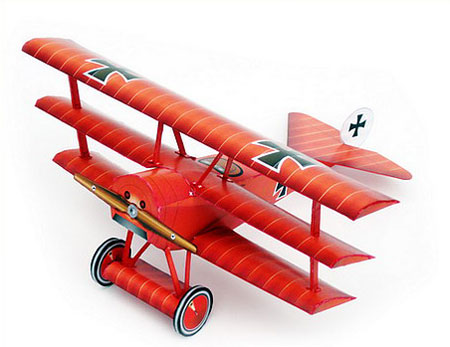 Red Baron Triplane Papercraft