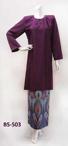 baju raya 2014 naju kurung malaysia moden mini kurung purple ungu murah online