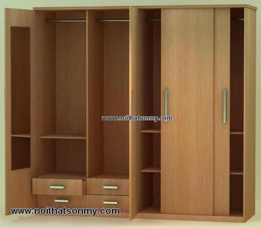 Tủ quần áo gỗ 3 cánh-2